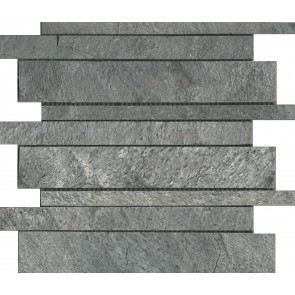 Mozaiek silver grey interlock quartzite 30,0x30,0x1,0