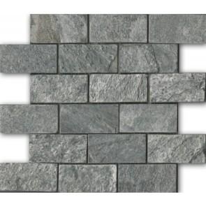 Mozaiek silver grey mosaic quartzite 5,0x10,0x1,0