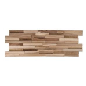 Houten wandstrip acacia 3D 20x60x1,7cm