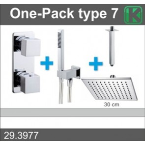 one-pack inbouwthermostaatset vierk.type 7 (30cm)