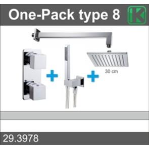 one-pack inbouwthermostaatset vierk.type 8 (30cm)