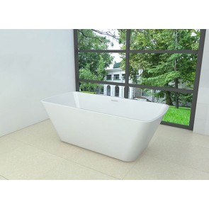Larx vrijstaand vierkant acryl ligbad 170 x 78 wit