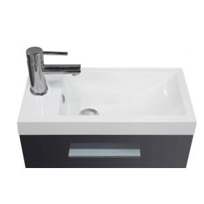 Emma fonteinkastje + wastafel 500x250x500 hoogglans grijs