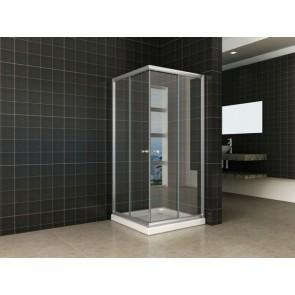 Eco hoekinstap douchecabine 5mm 900x900x1900 helder glas