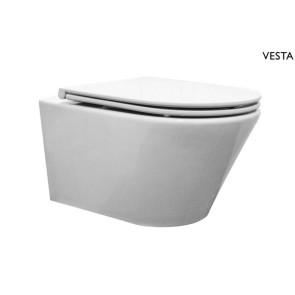 Vesta wandcloset met flatline 2.0 zitting wit