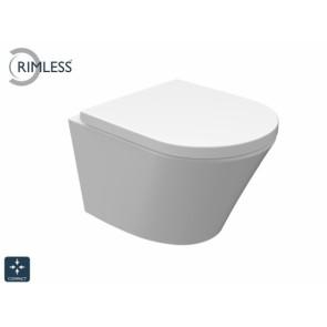 Vesta-Junior rimless wandcloset 47cm + zitting wit