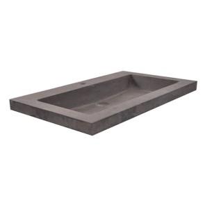 hardstenen meubelwast. 60x46x5 met 1 kr.gat