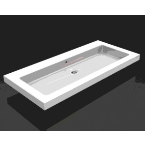 keramische meubelwastafel 100x46 zonder kr.gat