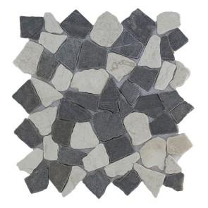 Mozaiek mix white darkgrey 29,4x29,4