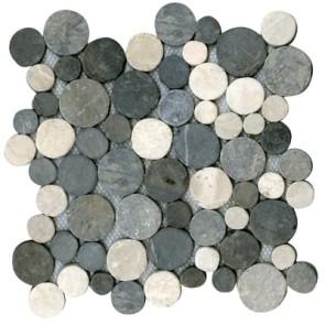 Mozaiek coinstone mixed grijs wit 29,4x29,4