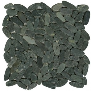 Mozaiek pebblestone black 29,4x29,4