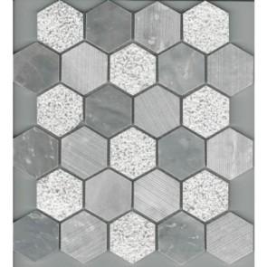 Mosaic stone 300x300x10mm chip 53x53