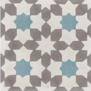 Tegels kashba grey star 20x20