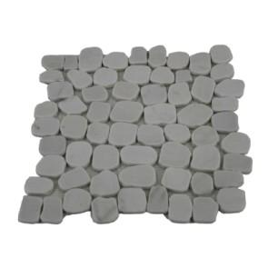 Mozaiek stone milk white irregular chip 30x30x1cm