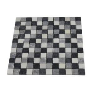 Mocaic stone chip grey/white/black 30x30x1 23x23mm