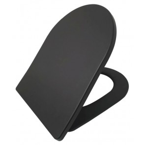 Shade Slim toiletzitting + deksel one-touch mat-zwart