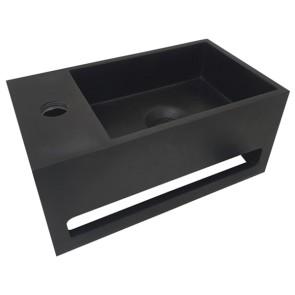 Julia fontein Solid Surface 35 x 20 x 16 cm mat-zwart links