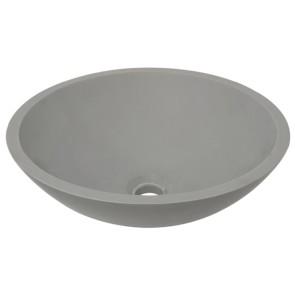 Valerie opzetwastafel Solid Surface 43 cm betonlook