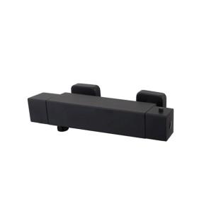 Eco Rombo thermostatische douchemengkraan mat-zwart