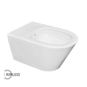 Luxe rimless wandcloset 53 cm met bidet-functie wit
