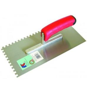 Het gereedschap kaufmann hulpmaterialen x st lijmkam 12mm sg rvs kau