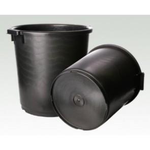 Het gereedschap hulpmaterialen x st lijmkuip hoog 35lt.zwart hg1e