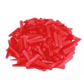 Het gereedschap hg hulpmaterialen x zk kegjes pvc rood hg