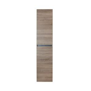 Lorencio hoge kast 2 deuren greeploos 35x160x35cm grijs eiken
