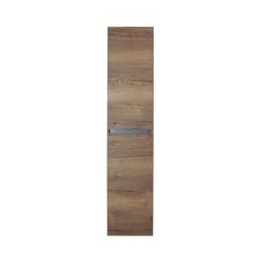 Lorencio hoge kast 2 deuren greeploos 35x160x35cm tabacco