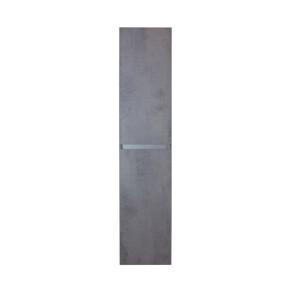 Lorencio hoge kast 2 deuren greeploos 35x160x35cm beton antraciet