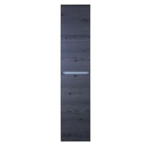 Lorencio hoge kast 2 deuren greeploos 35x160x35cm lariks antraciet