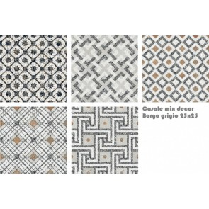 Tegels terrazzo casale borgo grigio 25x25 mix