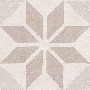 Tegels materia decor star ivory 20x20