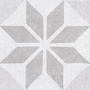 Tegels materia decor star white 20x20