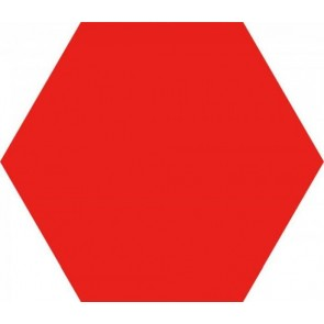 Tegels opal rojo hexagon 28,5x33