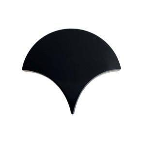 Tegels visschub escama zwart 13,4x15