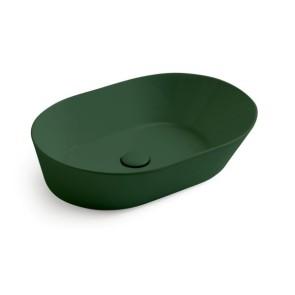 Waskommen mees design opbouw waskom ovaal mat groen