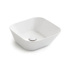 Waskommen mees design opbouw waskom vierkant mat wit