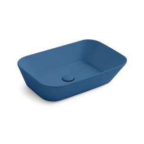 Waskommen mees design opbouw waskom rechthoek mat blauw