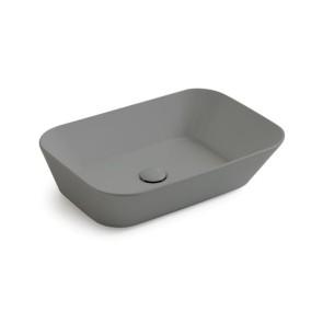 Waskommen mees design opbouw waskom rechthoek mat grijs
