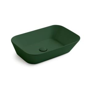 Waskommen mees design opbouw waskom rechthoek mat groen