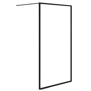 Douchewanden inloopdouche olivia 90x200cm helder glas mat zwart raamwerk