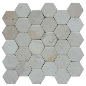 Stabigo hexagon mozaieken moz 300x300 hexagon cream sta