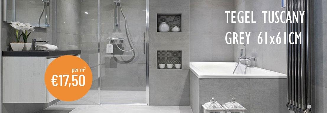 Vloertegel beton-grijs 61,0x61,0 cm